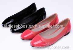 good quality patent leather women flat fahsion dress shoes