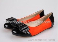 Bowtie flat lady dress shoes