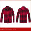 Custom made European size high quality men cotton red flannel shirts