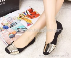 Round toe fashion flat women dress shoes with sequined