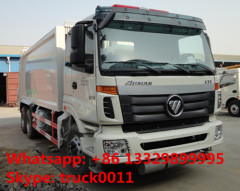 Foton Auman 4*2 LHD 12m3 garbage compactor truck for sale