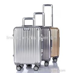 منتجات جديدة الألومنيوم الأمتعة حالة وحالة السفر الرمادية شظية الذهب الامتعة اللون 4 عجلات عربة الامتعة