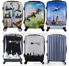 Trolley-Tasche mit Reißverschluss Gepäck Gepäck Aluminium -Rahmentyp und PC Material Polycarbonat bunten Trolley Gepäck