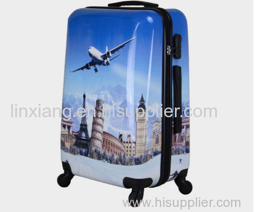 Trolley Bag Zip luggage aluminum frame luggage Type and PC Material polycarbonate colourful trolley luggage