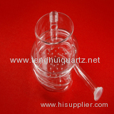 Quartz condenser of high quality