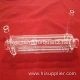 Clear Double Deck Silica Quartz Glass Tube