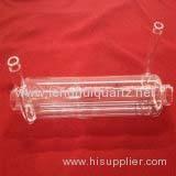 Double Deck Silica Quartz Glass Tube