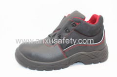 black split emboss leather safety footwear safety shoes