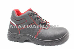 balck split emboss leather safety footwear ce safety boots