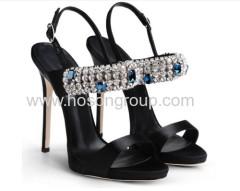 New style ladies rhinestone high heel women shoes