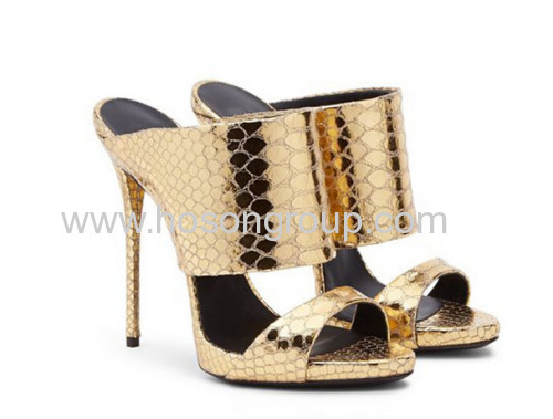 New style open toe stiletto heel shoes