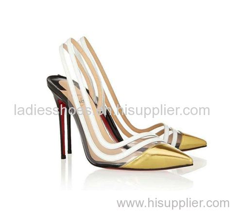good quality wholesale new design sling back high heel women dress shoes