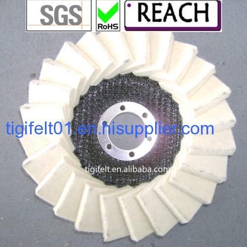 100% Flap wool felt wheels