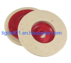 felt wheels with red color disc
