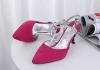 Fashion sling back T-strap high heel sandals