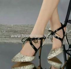 Women sling back lace up dress sandals