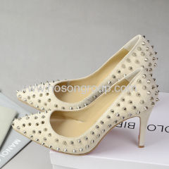 Fashion party rivets stiletto heel shoes