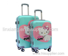 h Cat catoon Printing Carryon Luggage