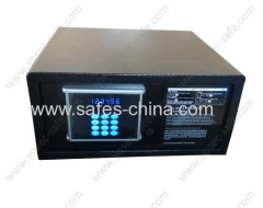 Electronic in room safe with digital safe lock and illuminated keypad for hotel bedroom