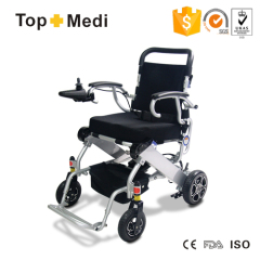 Lightweight folding electric wheelchair for airplane