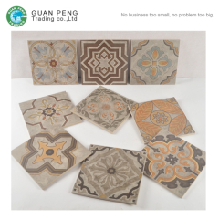 2016 Porcelain Spanish Flower Ceramic Floor Tile Price For Wall Decoration