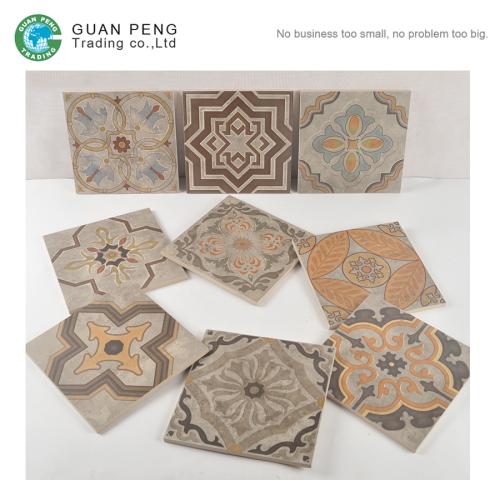 2016 Porcelain Spanish Flower Ceramic Floor Tile Price For Wall Decoration