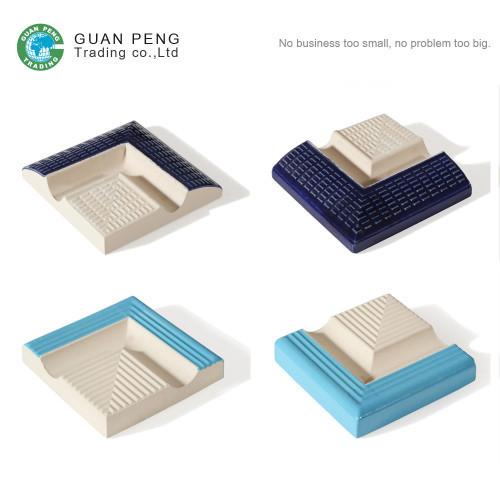 White And Blue Porcelain Swimming Pool Edge Tile Outside Corner Trim