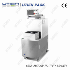 semi-automatic tray sealing packaging machine