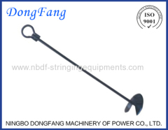 Earth Anchor or Ground Anchor Tools for Overhead Power Line Construction