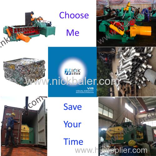scrap metal hydraulic baler  waste metal baling press waste steel hydraulic baling machine Waste aluminum balers