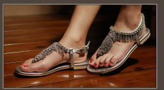 mode dames strass clip sandalen