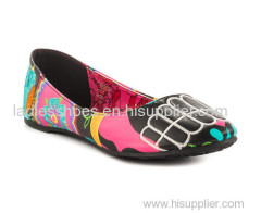 Colorful African Printed Fabric ladies dress shoes