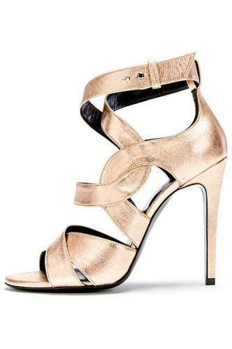 Mixed color ankle strap high heel sandals
