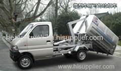 Melhor vendedor china barato boa qualidade sino manual diesel manual 1 tonelada gancho elevador novo compactador caminhão de lixo