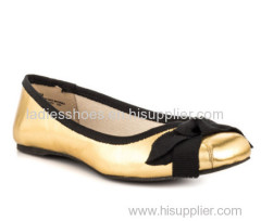 Shiny Gold color mulheres flat dress
