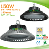 High quality 100W 120W 150W 200W 140LM/W high end UFO LED high bay lights with PC lens