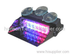 LED white and purple warning deck dash light police vehicle vsior lightbar