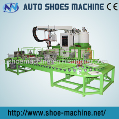 PU shoe sole footwear manufacturing machine