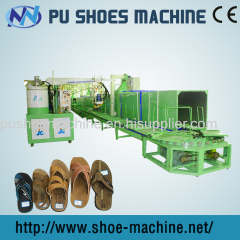 Double Color machine to make leather slipper