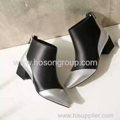 New Collection Metallic Color Women Fashion Boots