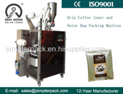 Ultrasonic Seal Guatemala Drip Coffee Packaging Machine with Outer Envelope