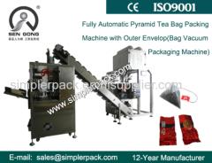 Pyramid Darjeeling Tea Bag Vacuum Packaging Machine with Outer Envelope