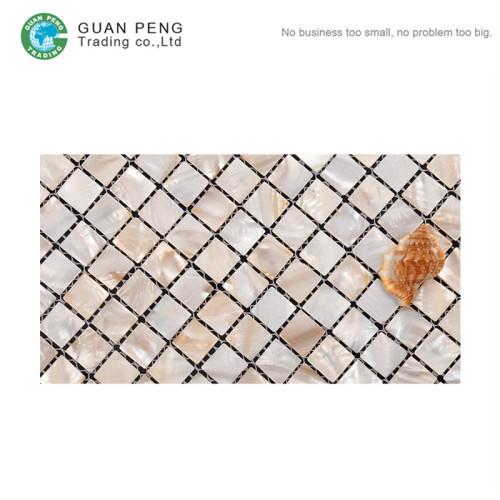 Kitchen Wall Shell Mosaic Tile Seashell Backsplash Mosaic Tiles