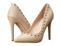 Studded pointy toe high heel party shoes