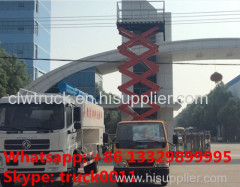 China JMC 4X2 4x4 6 wheel Aerial Ladder Truck with hydraulic lifting aerial work platform for sale