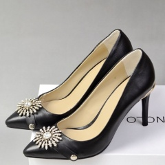 Sunflower rhinestone high heel ladies shoes