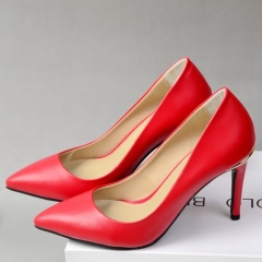 Fashion pointy toe classic wedding shoes red