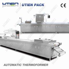 Apparecchiature per imballaggio a gas a vuoto termoformatura automatica per frutta