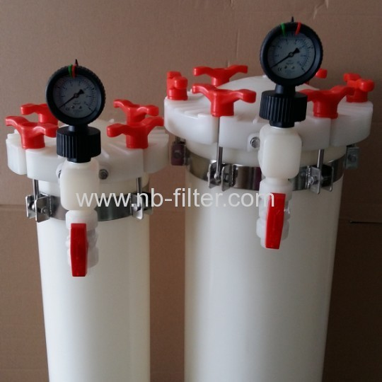 All PVDF material Plating Filter for high temperature resistance