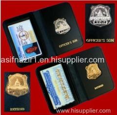 Police Badge Holder Wallet/ ID Card Holder/ Custom Badge Wallet